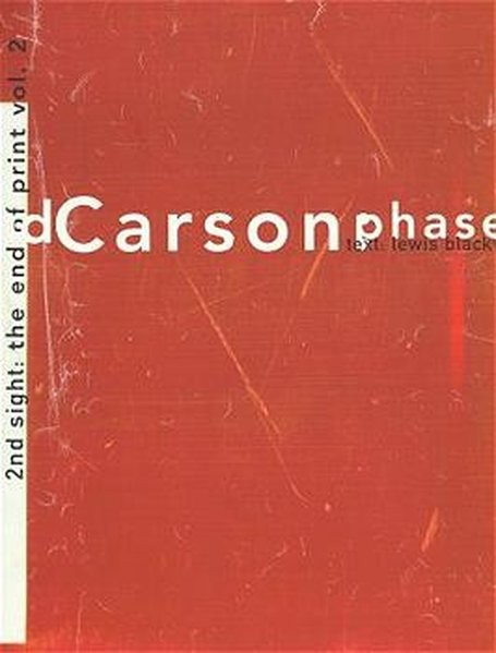 David Carson, The end of print, Bd.2